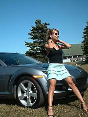Got my motor going - photos of my trophy wifey getting my engine and motor all warmed and revved up
