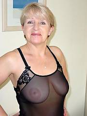 Grandma flashes in public, shes got a good set of tits no sag at all