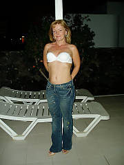 I dared her to get topless outside of our villa and she fuckign did it!