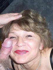 She enjoys sucking pecker and so i dont mind letting her do it, even tho its kinda getting grandmother sucking creepy