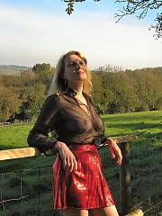 My glamourous wife in some glam shots we did on a wind swept hill.