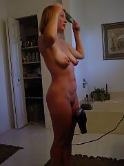 Blow drying her