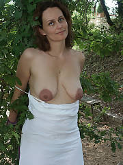 Nasty frizzy hair slut outdoors