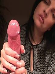 Awesome handjob video with a gorgeous mother