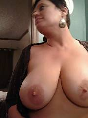 Boobed babe showing