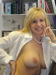 Fabulous blondie mature in a incredible novice photo