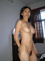 Fluffy asian mother