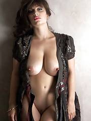 Huge tit milf hard puffies open dress