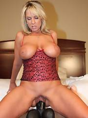 Incredible muff vibro pic with a cool blond mother