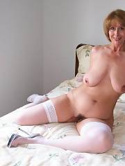 Mother in stockings