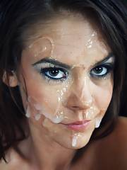 Slut face mother yummy facial cumshot