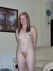 Blond unshaved MILF on new years day