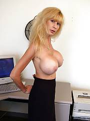 Mature blondie with