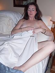 Sexy brunette mature