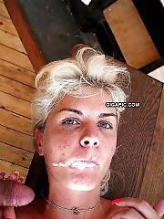 Cum shot & facial mature french whore Coco