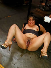 Whore wifey drilling in the factory