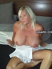 MILF Malory with ideal natural titties showing off for you to cum on