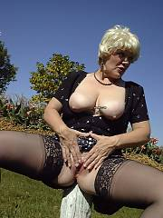 Slut wife showing snatch At Park 2