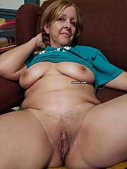 Sexual mature house wife  grand mamma exposing her pussy