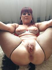 Wonderful redhead mature in amazing rookie vagina photo