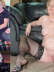 Chubby wife dressed and nude Amateur BBW Mature