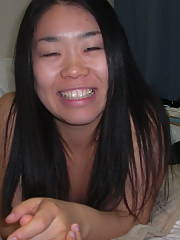 This asian gf of mine enjoys to jerk and ejaculation when she cums...loved when shes talked dirty too and treated like a slut