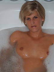 Heres my ex wifey - she has so much joy in the bathtub and positions like a pro.  not to mention her pecker sucking skills