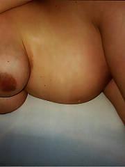 Pregnant bitch posing