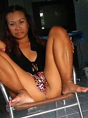 Naked thai wife - my thai wife likes to be naked at home and show everything