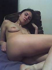 Sexy amateur cum liking hispanic slut - some home amateur submitted photos of this slutty young amateur hispanic gf taking loads of her mans cum all over her body