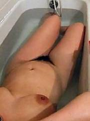Here are some pictures of my bush and hot sweaty vagina.  mu husband likes to run his fingers through it and play with while he finger penetrates me
