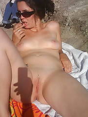 J being crazy and nude at the beach.  she always liked when wed go the beach and she could be au natural...!