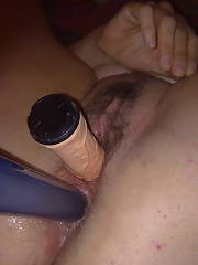 Excited french pussy.  here is my wifey exposing her sweet and hungry furry cunt spread open.  she is very comfortable and loves to show off