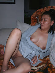 Korean lady sucking pecker and posing for pics - just because shes old as heel doesnt mean she doesnt get a pecker craving every once in awhile