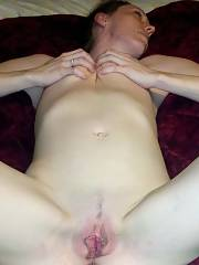 Hello kitty...my wife rosie spreading her legs and letting me snap a few pics of her sweet little pink beaver