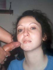 Just a whore to use - she was nothing more than a cum bucket for me and my buddies at school.  she lived around the corner from our frat house and liked to come and play