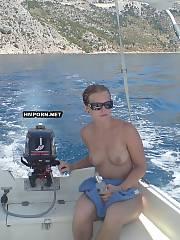 Cute gf enjoying yachting