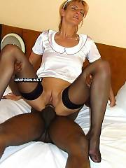 White mature housewives having interracial sex dark skinned bulls at cuckold sex and swinger parties with black men - amateur porn photos