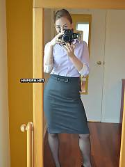 She is a secretary from my job and the hottest female coworker there, see her taking nude selfies in the mirror and then love the crazy coupling of me banging her vagina and backside in doggy style sex position - homemade sex pictures