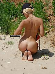 Naked beach voyeur sex phots, First time naturist nymphs and experienced nudist women loving sun and sea, sunbathing naked and get their sexy bodies and cunts filmed