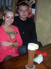 Amateur couple celebrating their dating date in restaurant