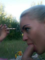 Vintage amateur porn photos of oral and anal sex with sweet gf outdoors somewhere in the insane nature
