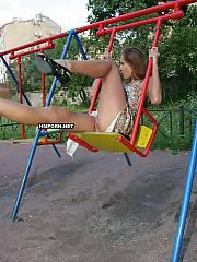 Lovely nymph sitting