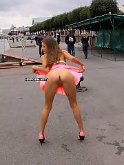Lovely russian girlie Kate is walking nude in public street and flashing strangers with her ideal body that every guy wants to drill
