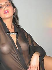 Very sweet dark haired sweetheart posing dressed and undressed in front of lover to make him nasty and penetrate her hard asap! love her so nice sappy twat closeup - amateur xxx pics