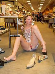 Amateur xxx - nymphs next-door and amateur mature women wear no panties in summer and lashing nude pussies under skirt at public places and shopping malls