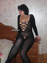 Russian dark haired mother posed naked for husband