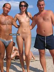 From single naturist and nudist babes posing nude on the beach to crowded group pics of many nude swarthy cuties flashing their cunts to strangers passing by