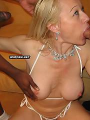 Homemade xxx - mature wife got hardcore fucked by 2 black men at crazy 3some sex during the big swinger orgy in hotel, watch how they creampied her pussy, Full of jizz vaginal views are waiting for you
