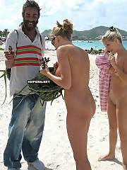 Nudist beach gals having great times on the beach